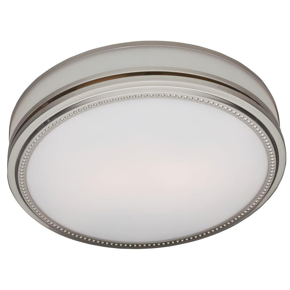Hunter Riazzi Decorative 110 Cfm Ceiling Bath Fan With Cased Glass And Night Light regarding size 1000 X 1000