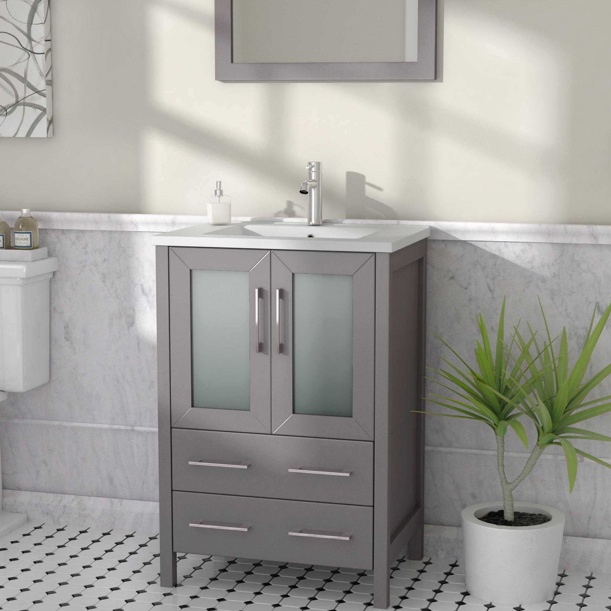 Karson 24 Single Bathroom Vanity Set With Mirror in size 2000 X 2000