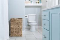 Kids Bathroom Remodel With Pops Of Light Turquoise Yellow pertaining to sizing 2832 X 4256
