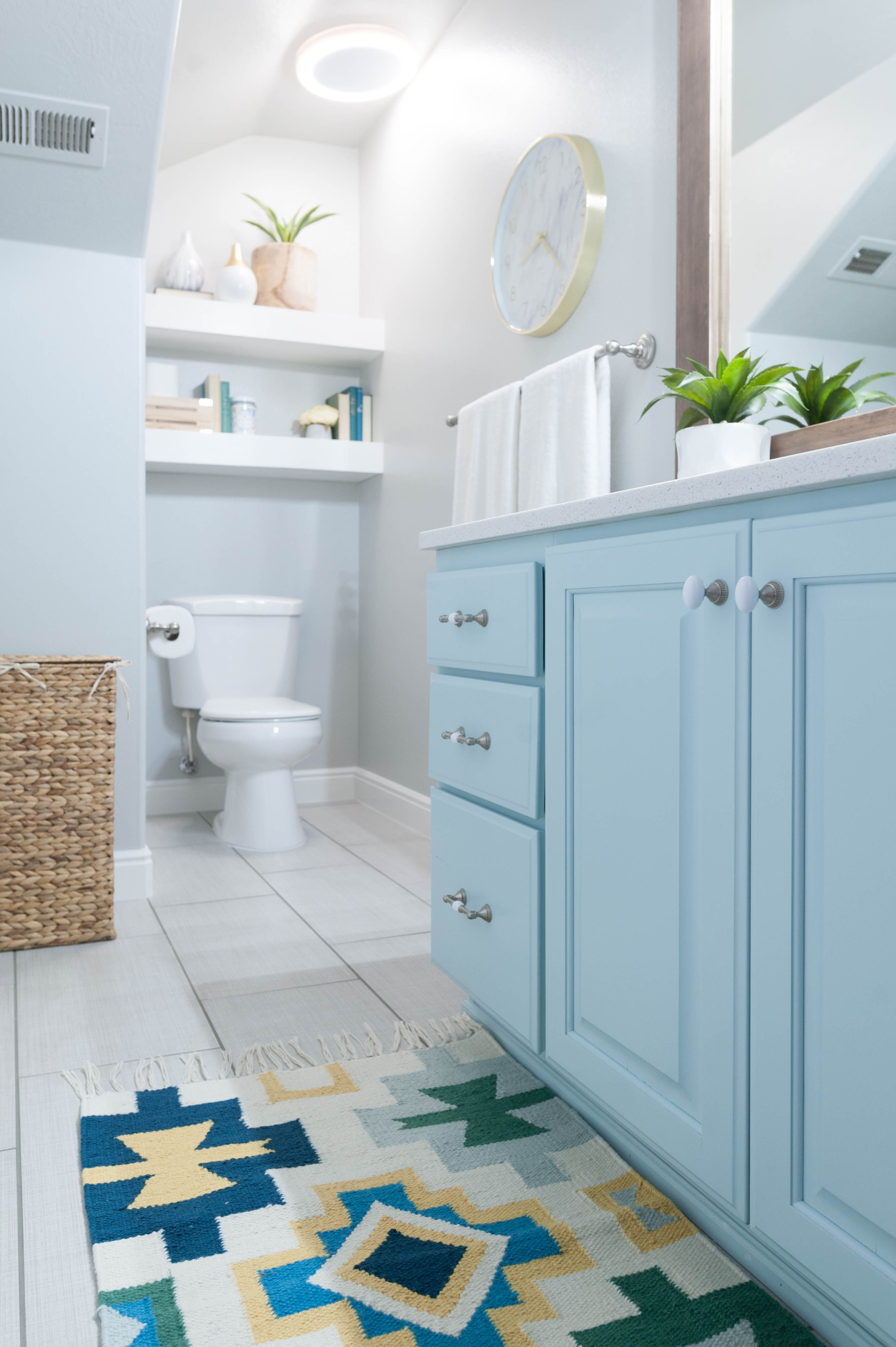 Kids Bathroom Remodel With Pops Of Light Turquoise Yellow regarding dimensions 2832 X 4256