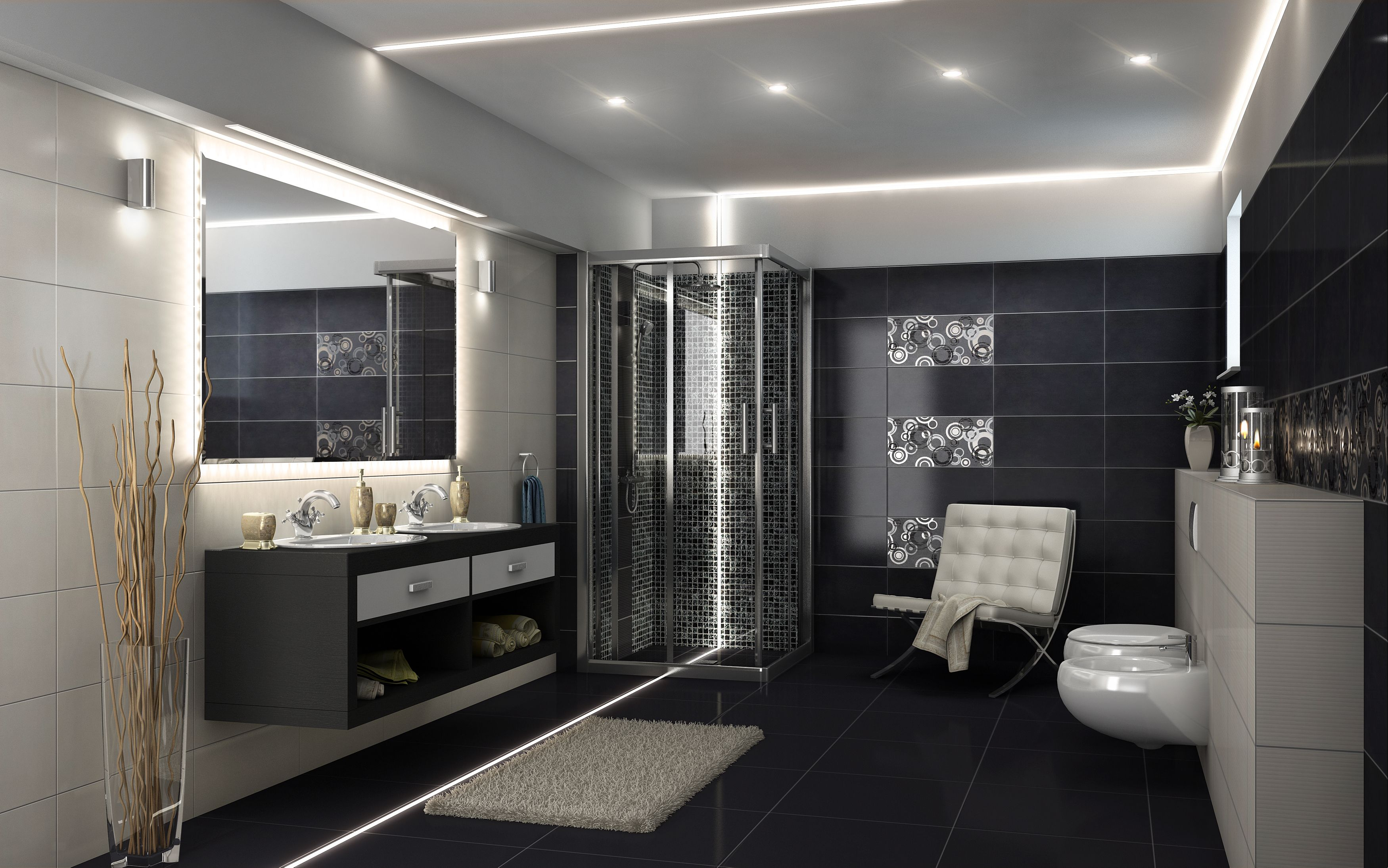 Led Lighting For Bathroom Ceiling And Floor Lights within sizing 3500 X 2188