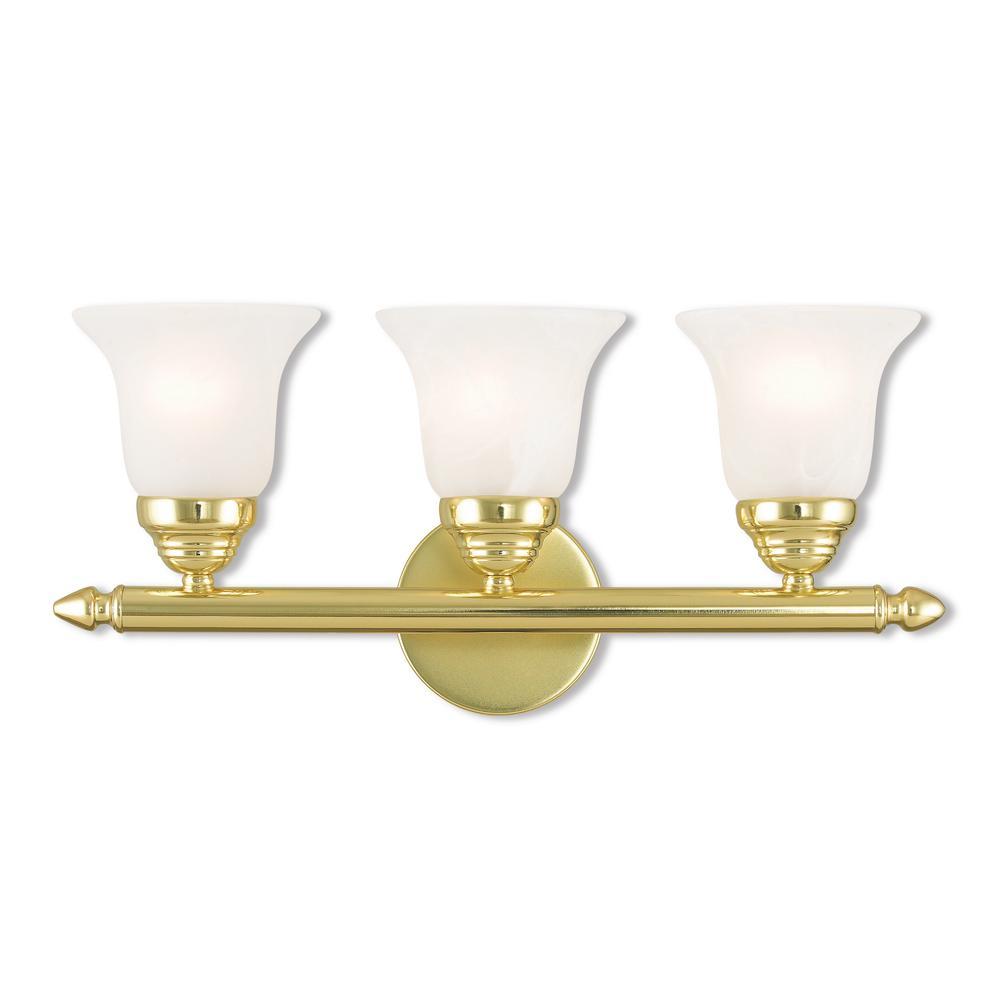 Livex Lighting Neptune 3 Light Polished Brass Bath Light for size 1000 X 1000