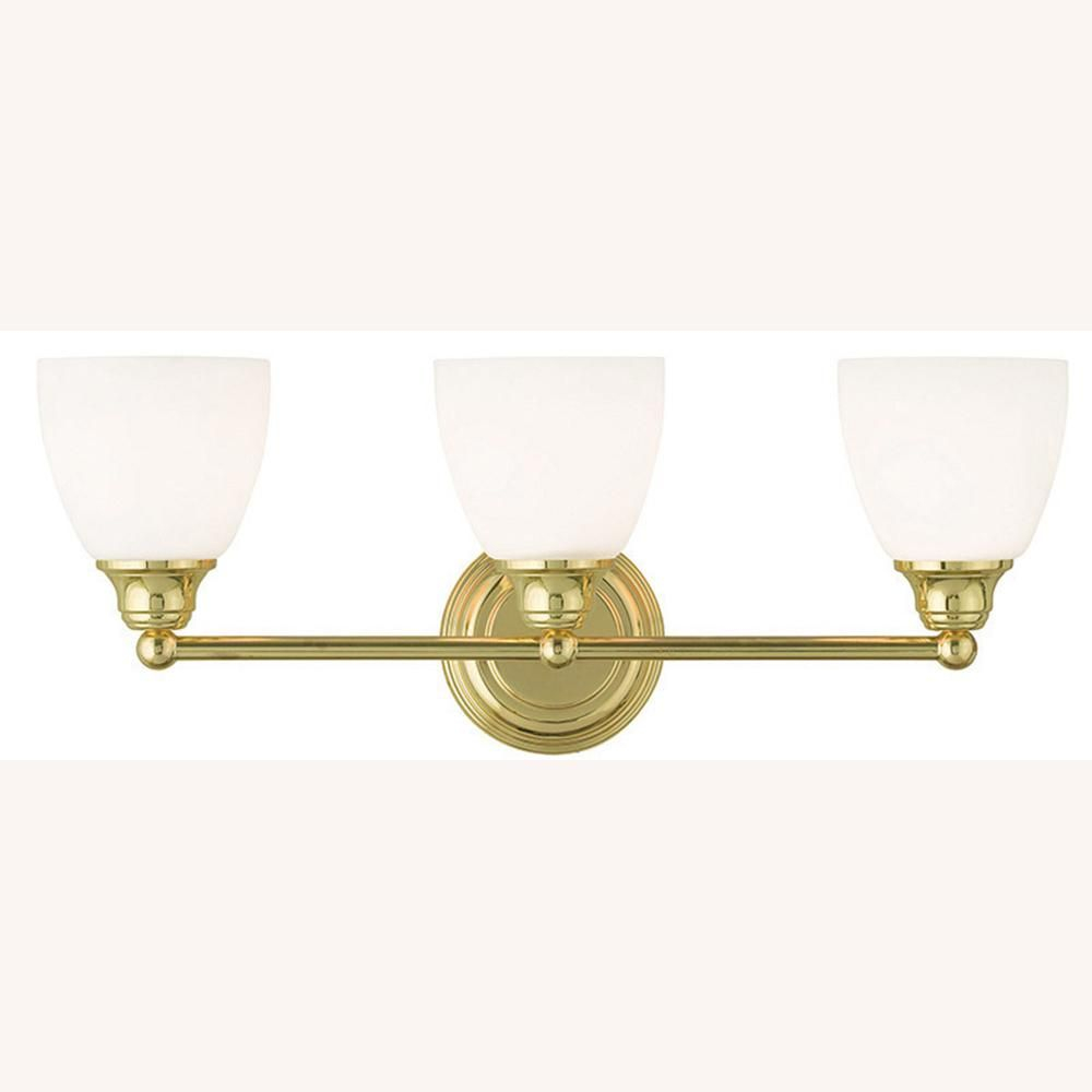 Livex Lighting Somerville 3 Light Polished Brass Bath Light throughout measurements 1000 X 1000