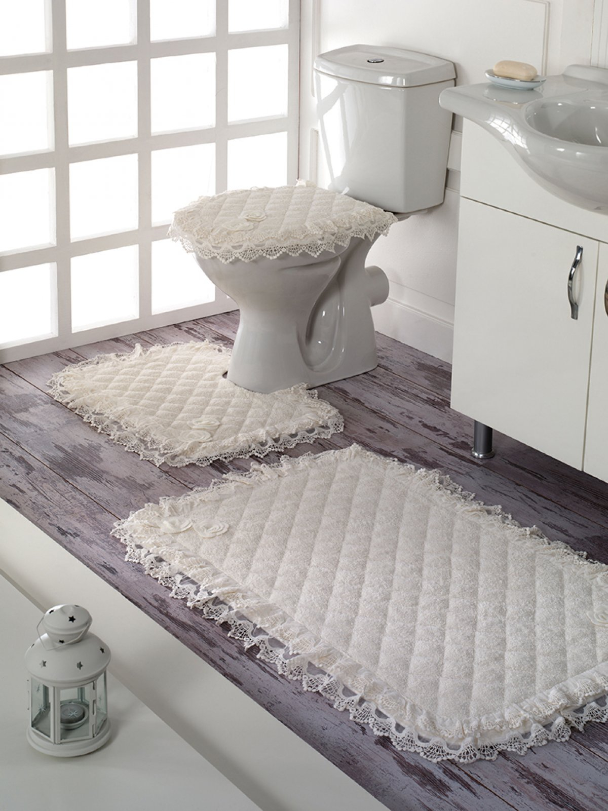 Liza Bath Mat Set 3 Pcs Akay Eyiz Home Textile regarding proportions 1200 X 1601