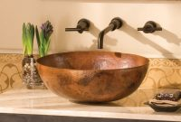 Maestro Tempered Copper Vessel Oval Bathroom Sink intended for sizing 1140 X 1140
