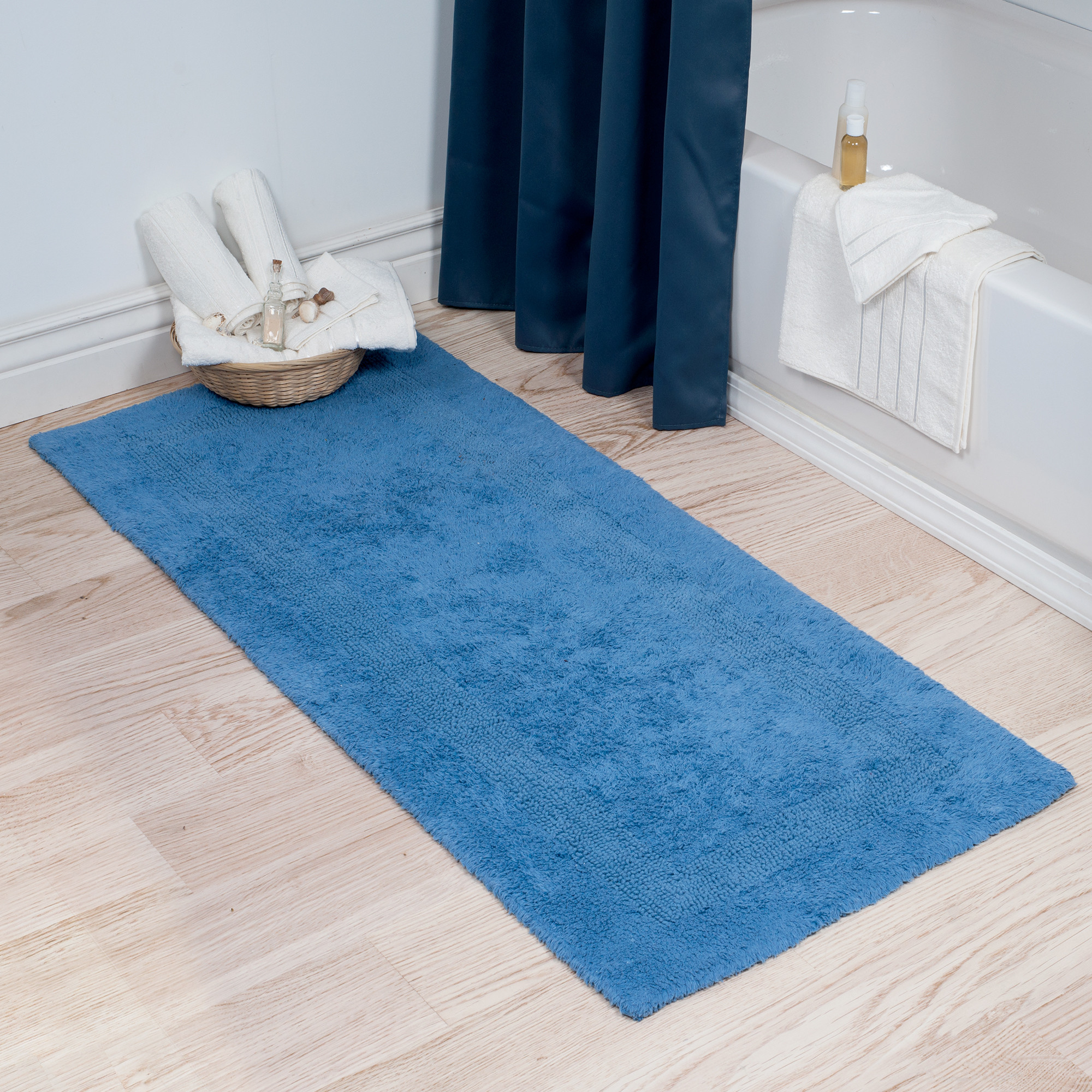 Magnificent Light Blue And White Bathroom Rug Slip Ideas Best Piece with measurements 2000 X 2000