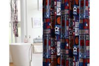 Mainstays Kids Sports Patch Shower Curtain Sports Bathroom intended for measurements 2000 X 2000