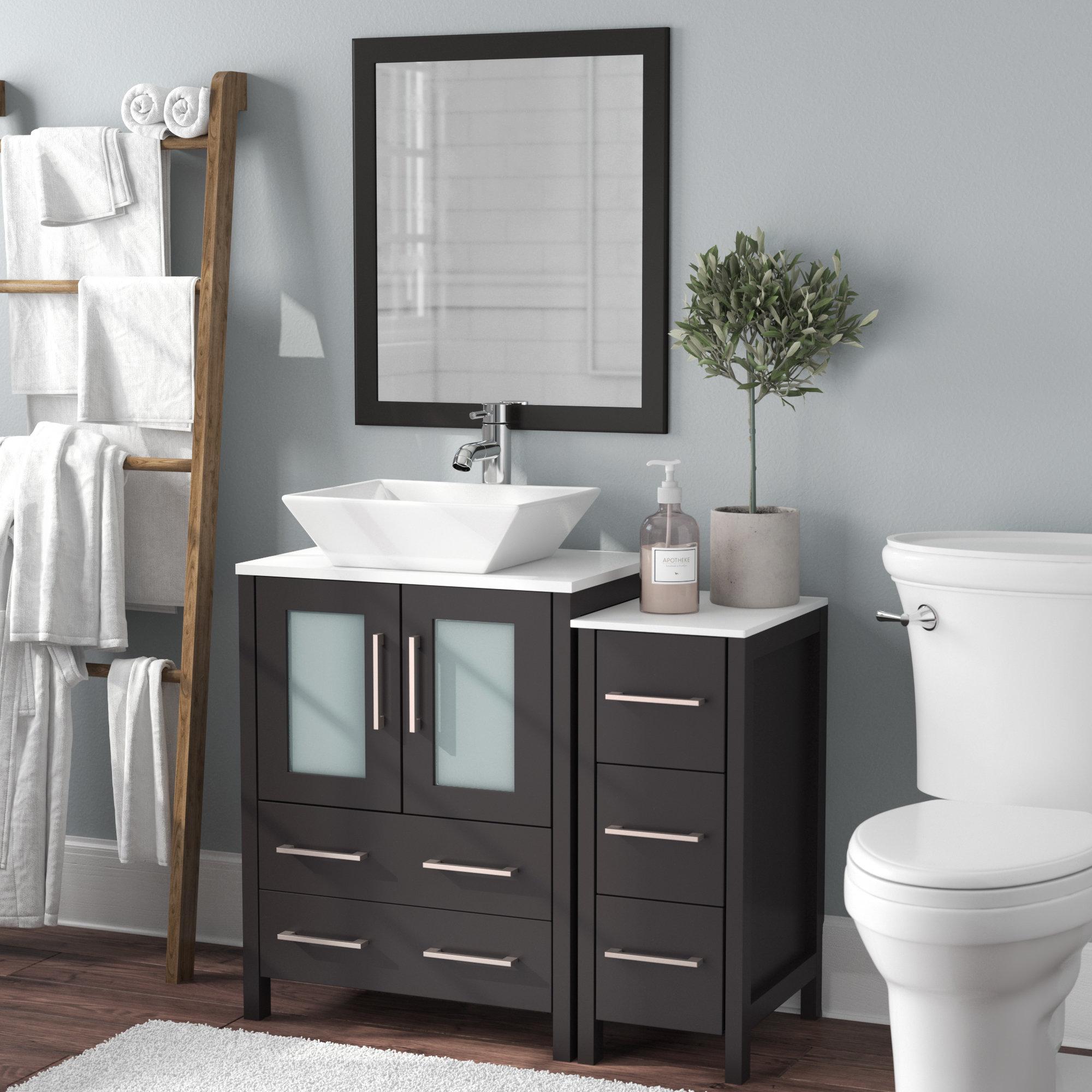 Megaira 36 Single Bathroom Vanity Set With Mirror regarding size 2000 X 2000