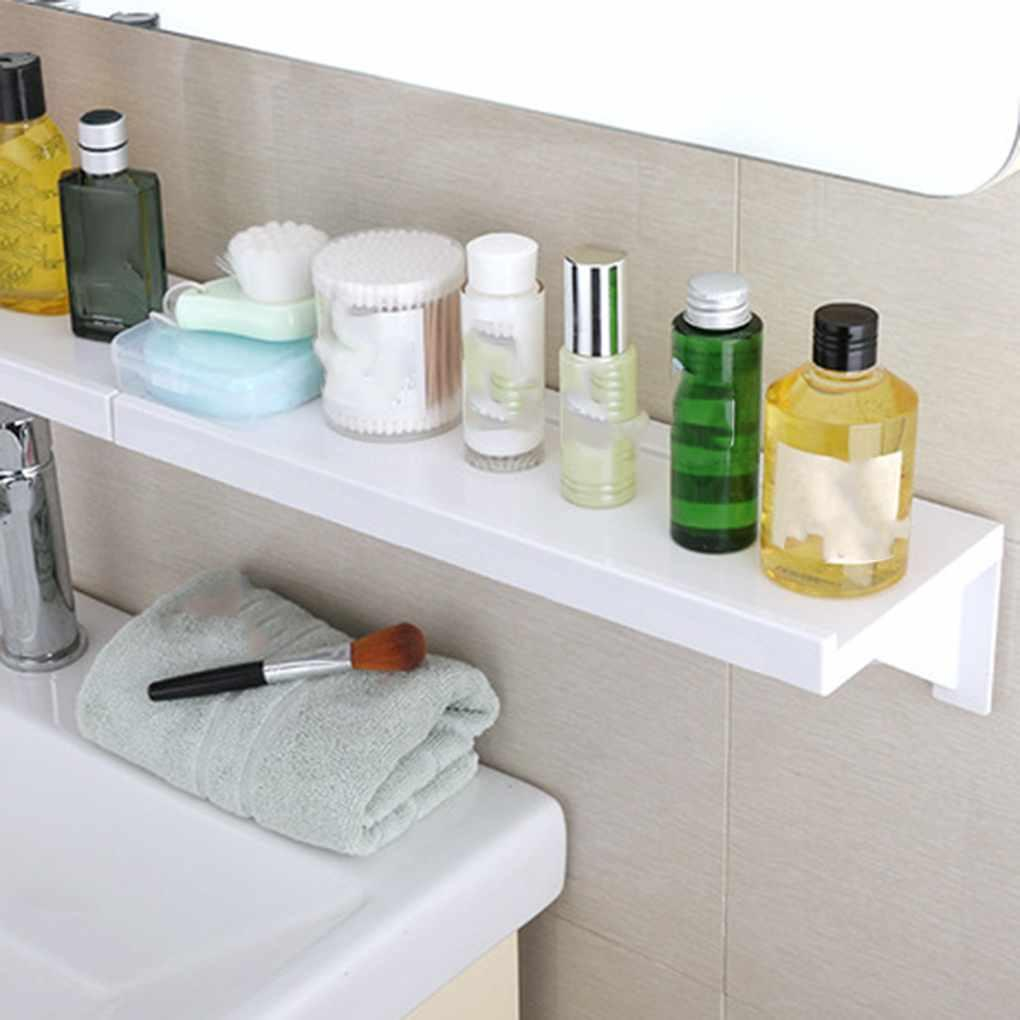 No Nail Bathroom Shampoo Cosmetic Storage Rack Plastic No Trace Stickers Kitchen Shelf Toiletries Holder Organizer for sizing 1020 X 1020