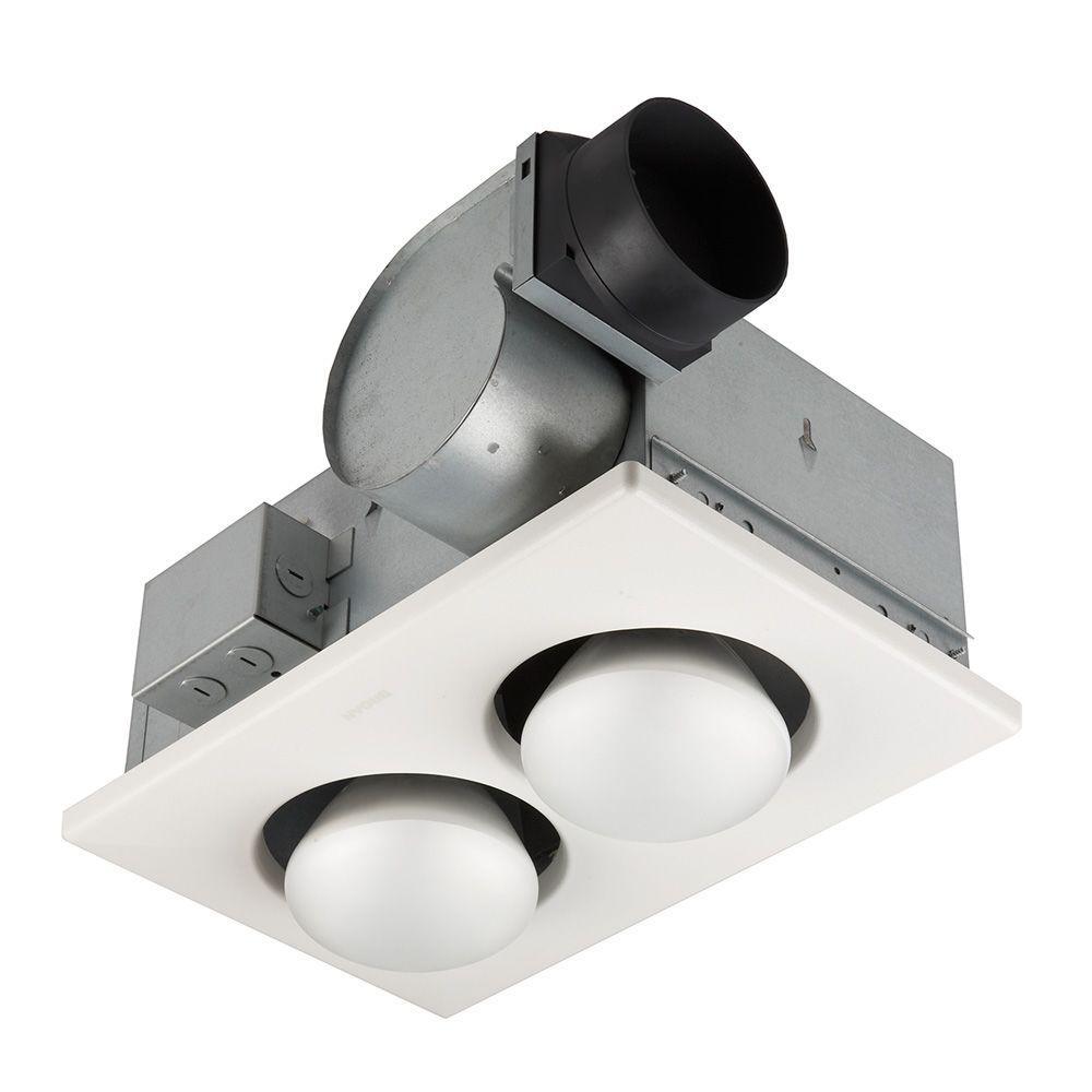 Nutone 70 Cfm Ceiling Bathroom Exhaust Fan With 250 Watt 2 Bulb Infrared Heater regarding sizing 1000 X 1000