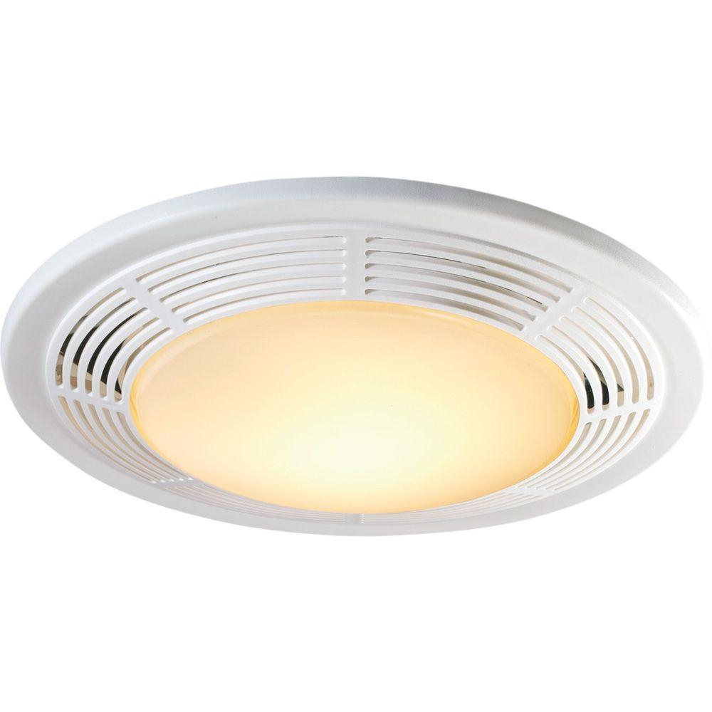 Nutone Decorative White 100 Cfm Bathroom Exhaust Fan With Light And Night Light throughout proportions 1000 X 1000