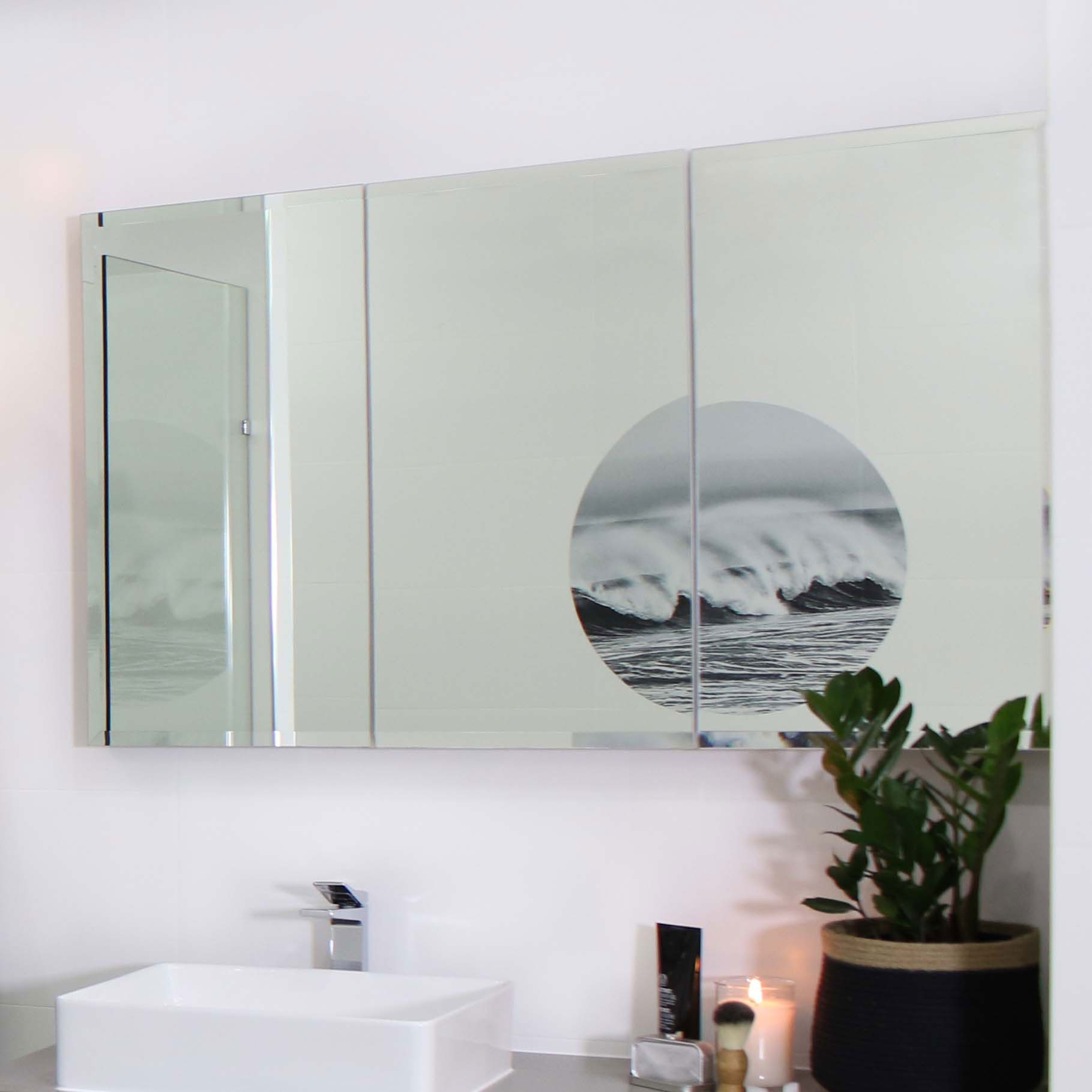 Osca Bevelled Edge Mirrored Cabinet 1200mm Highgrove Bathrooms with dimensions 1819 X 1819