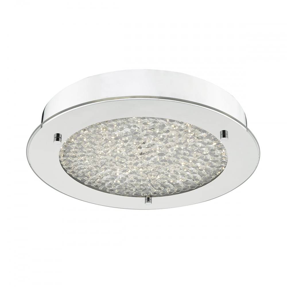 Peta Led Bathroom Flush Ceiling Light In Polished Chrome Ip44 Pet5250 within sizing 1000 X 1000