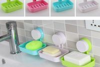 Plastic Suction Cup Holder Bathroom Shower Soap Dish Home Hotel Travel Soap Dish Tray Wall Holder Storage Box with size 1000 X 1000