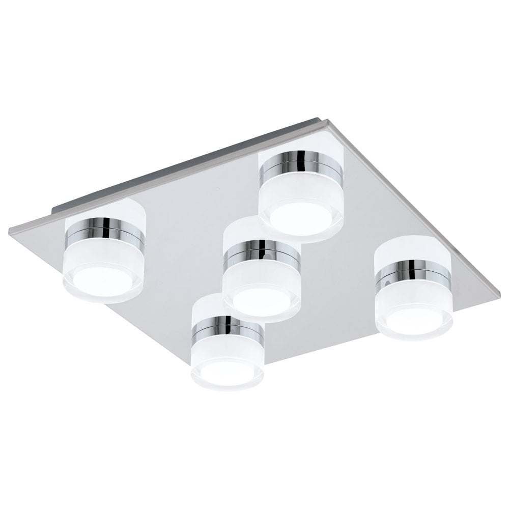 Romendo 1 Modern Led Dimmable Bathroom Ceiling Flush Light Ip44 96544 throughout sizing 1000 X 1000