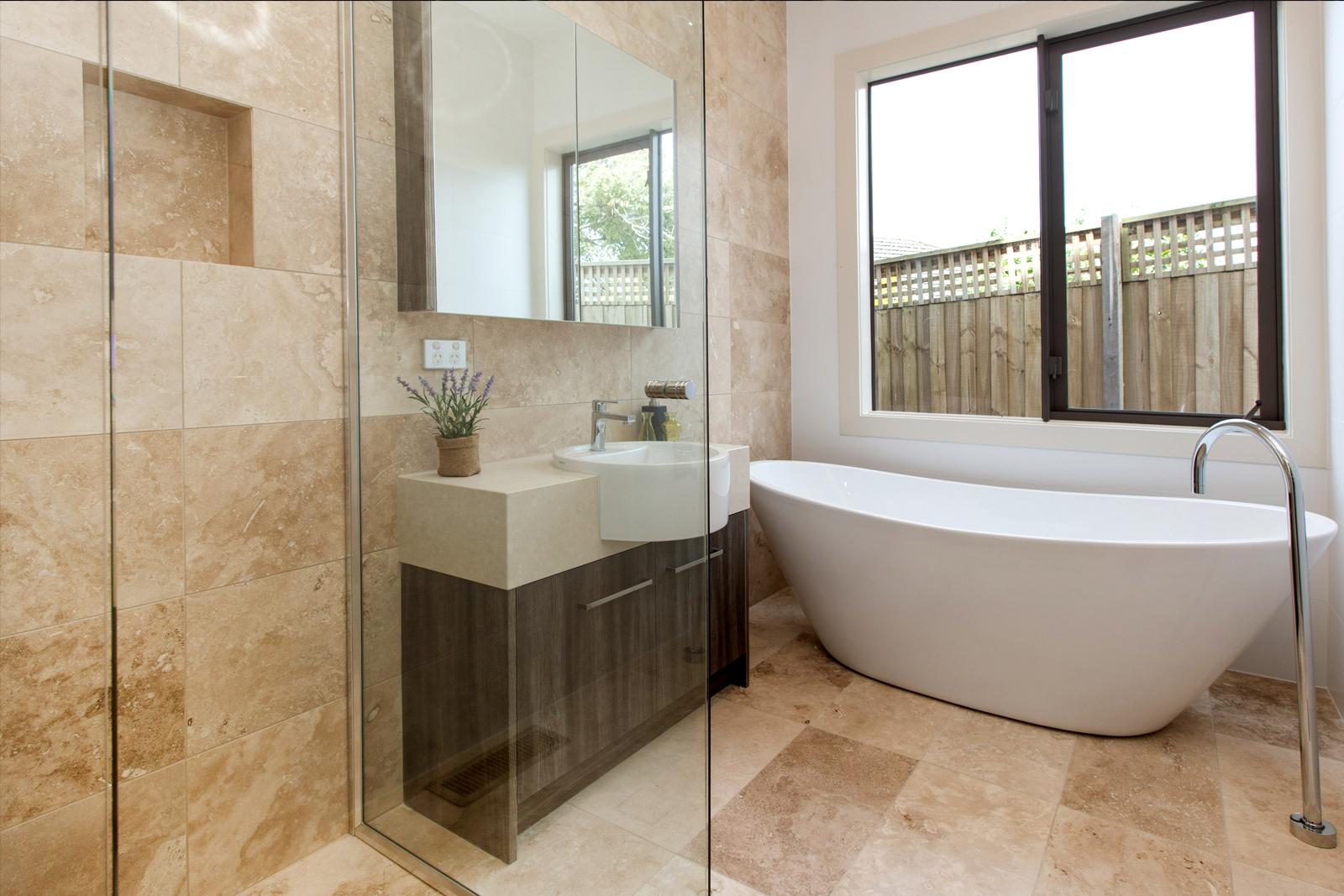 Sandstone Westcountry Tile Bathroom regarding measurements 1600 X 1067