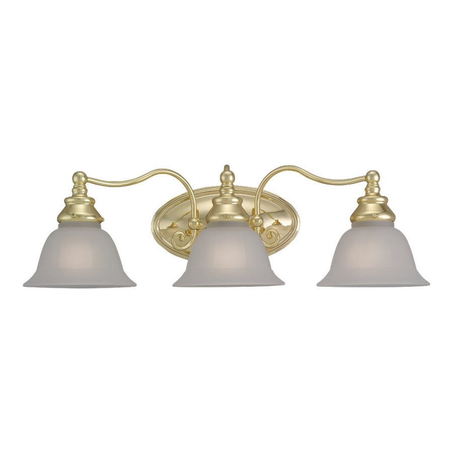 Sea Gull Lighting 3 Light Canterbury Polished Brass Bathroom intended for measurements 900 X 900