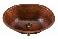 Sinkology Freud Undermount Handmade Pure Solid Copper Bathroom Sink With Overflow In Aged Copper regarding sizing 1000 X 1000
