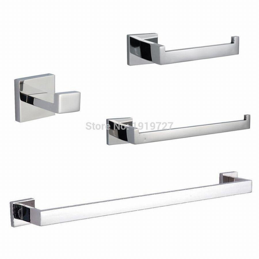 Stainless Steel 5 Piece Bathroom Accessories Kit Brushed with regard to sizing 900 X 900