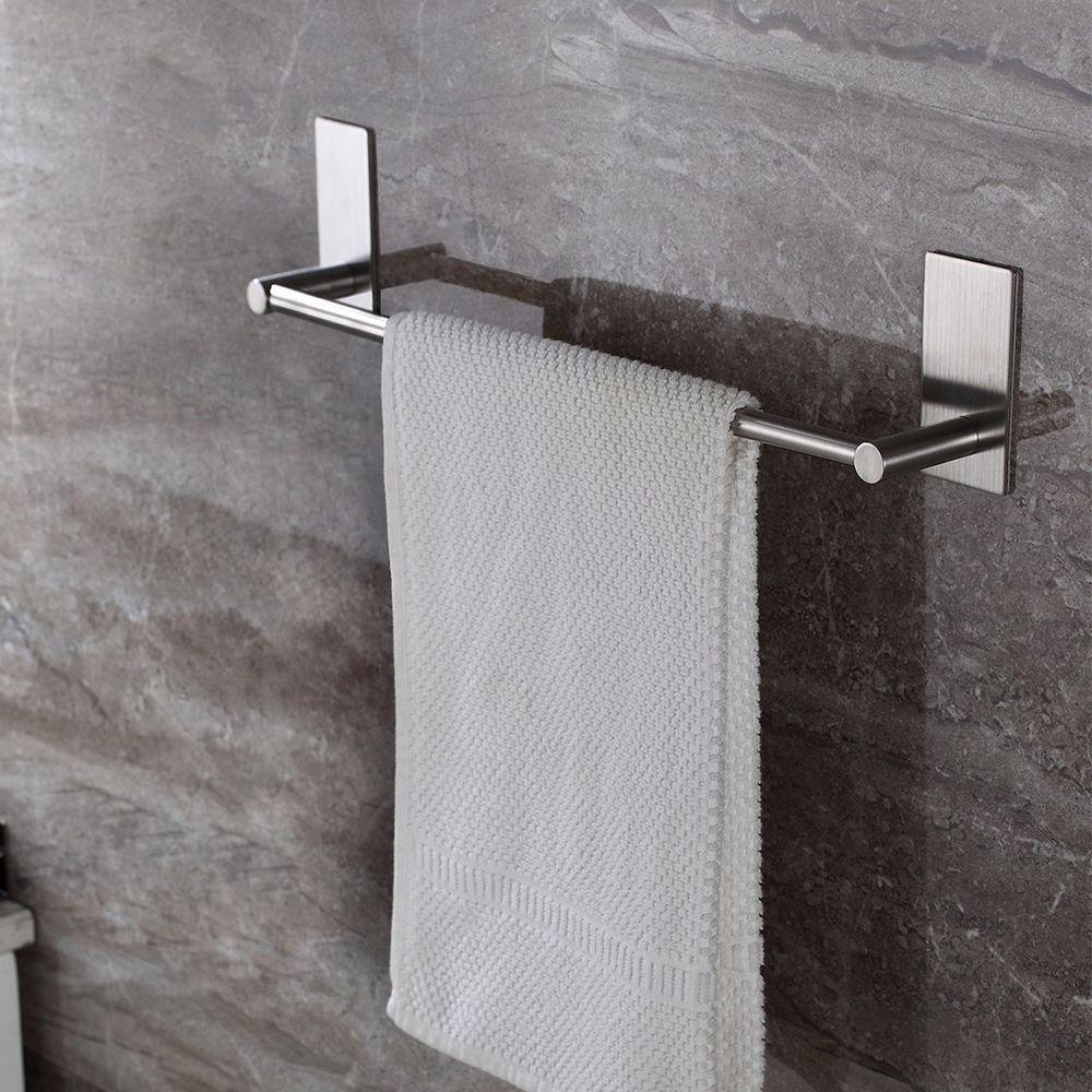 Taozun Adhesive 16 Inch Bathroom Towel Bar throughout sizing 1000 X 1000