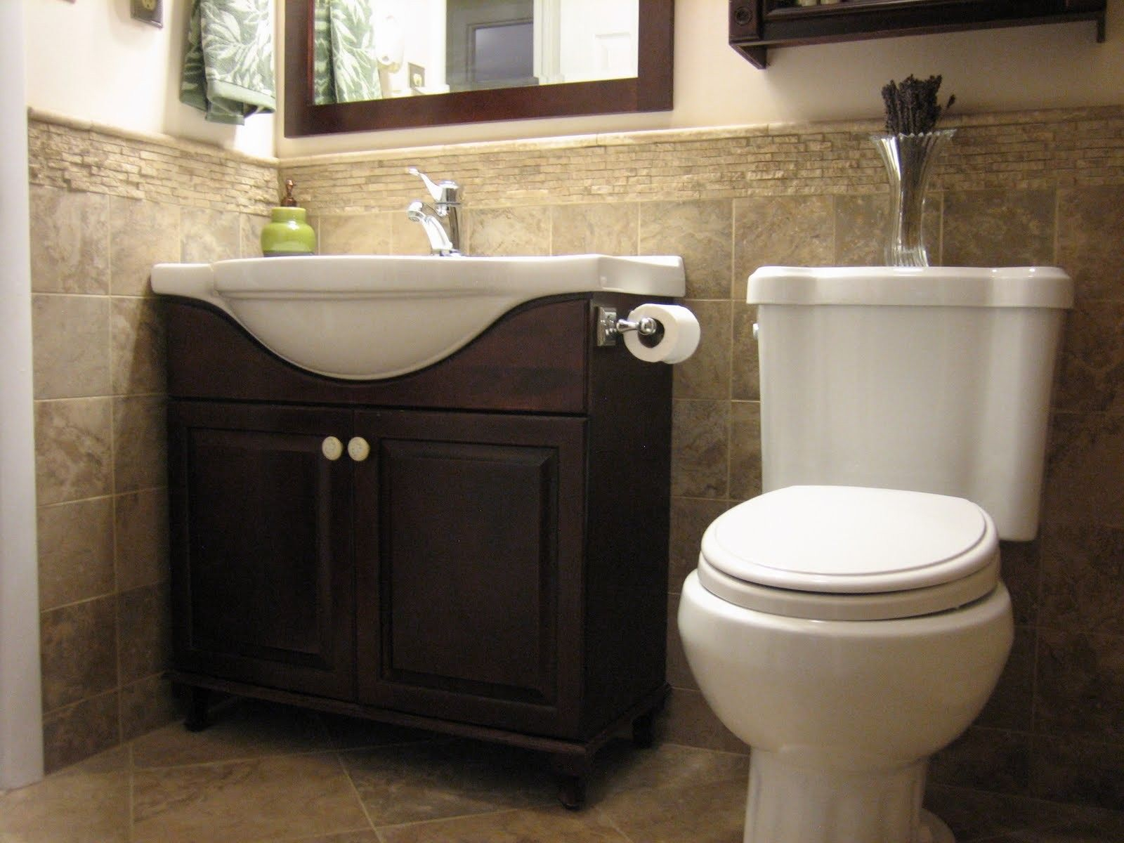 Tile Ideas For Half Bathroom For The Home In 2019 Small throughout sizing 1600 X 1200