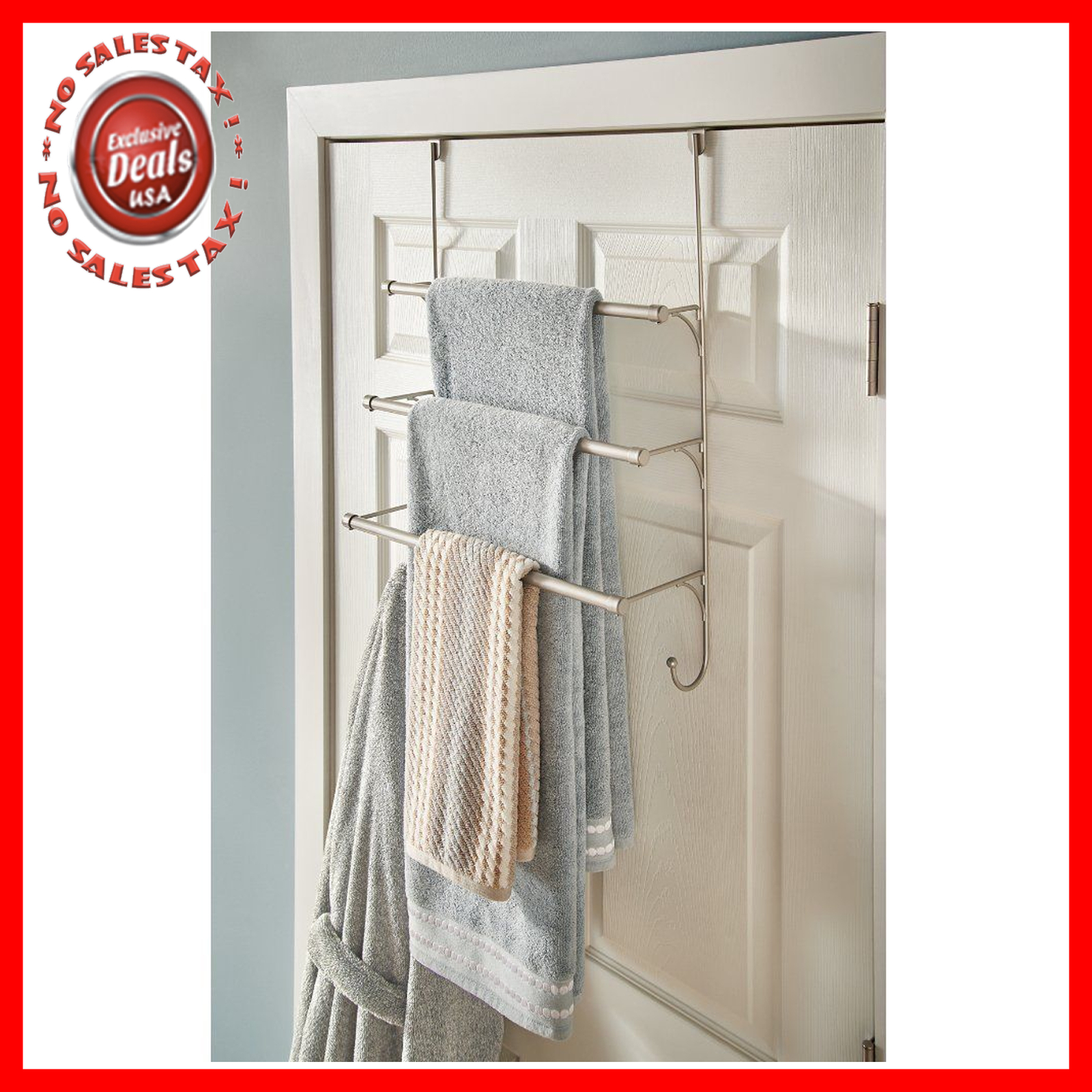Towel Rack Bathroom Hanging Holder Wall Mount Over The Door Hanger Organizer Bar pertaining to proportions 1600 X 1600