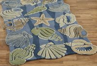Unique Bathroom Rugs With The Theme Of Sea And Seashell with size 2000 X 2000