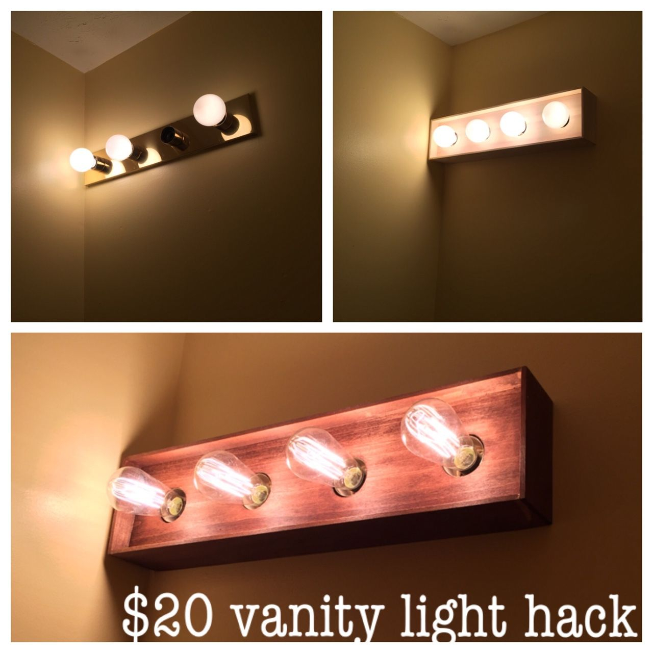 Updated Vanity Light Fixture My Woodworking Projects pertaining to sizing 1280 X 1280