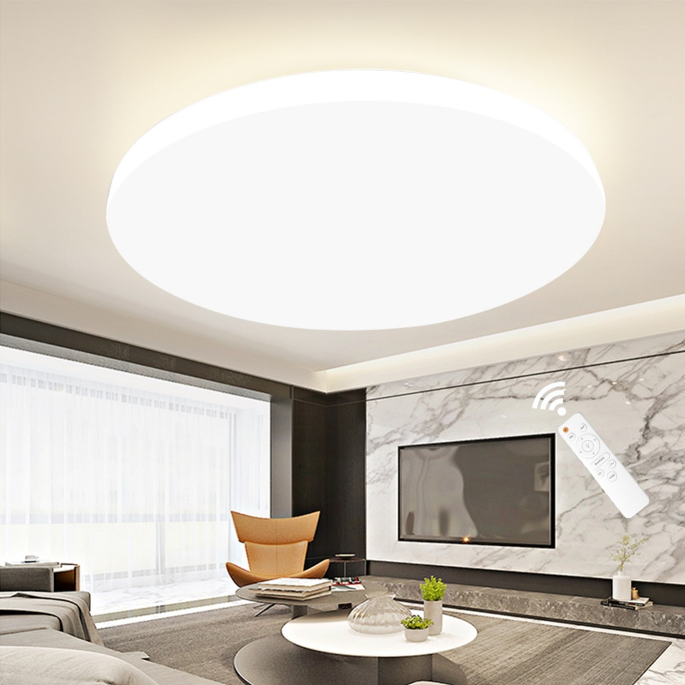 Us 75 Modern Led Ceiling Light Rc Dimmable Lighting Fixture Lamp Living Room Bedroom Kitchen Bathroom Surface Mount For Home Decor In Ceiling pertaining to measurements 1000 X 1000