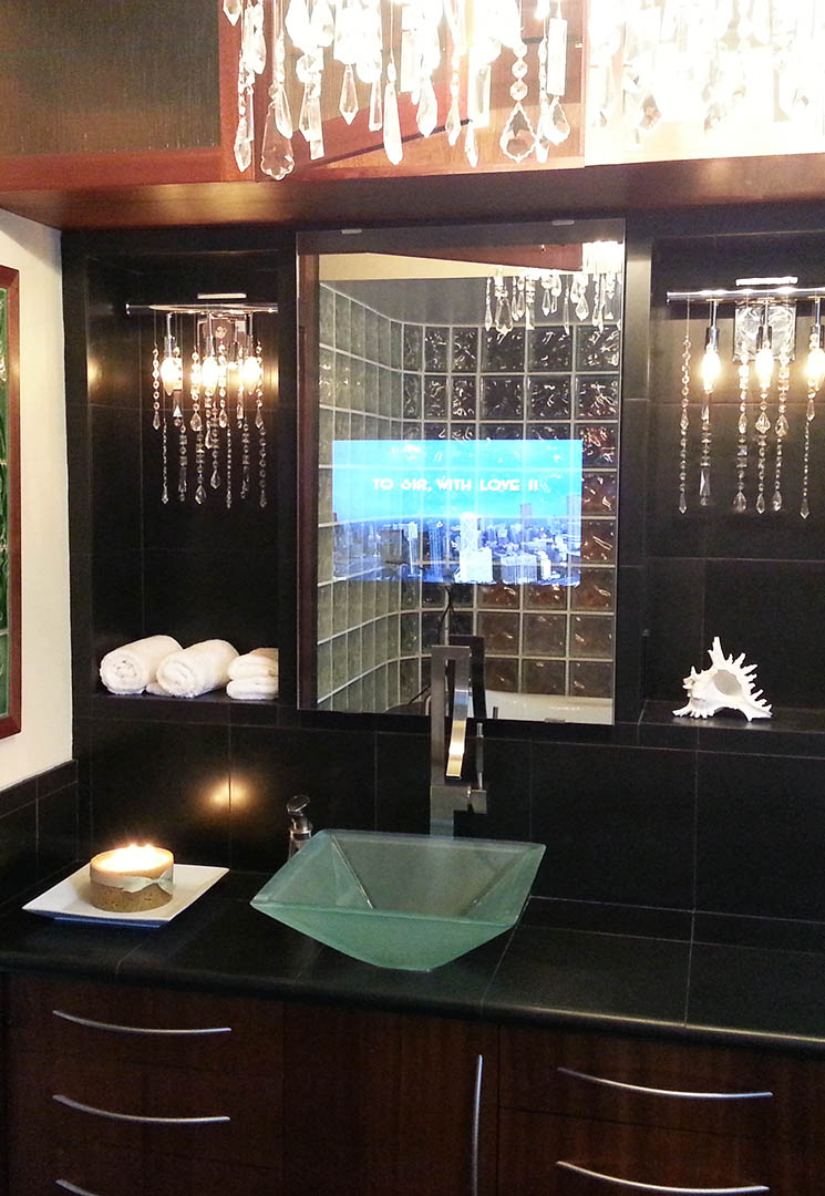 Vanity Mirror Tv Vanishing Television For Your Bathroom for measurements 745 X 1080