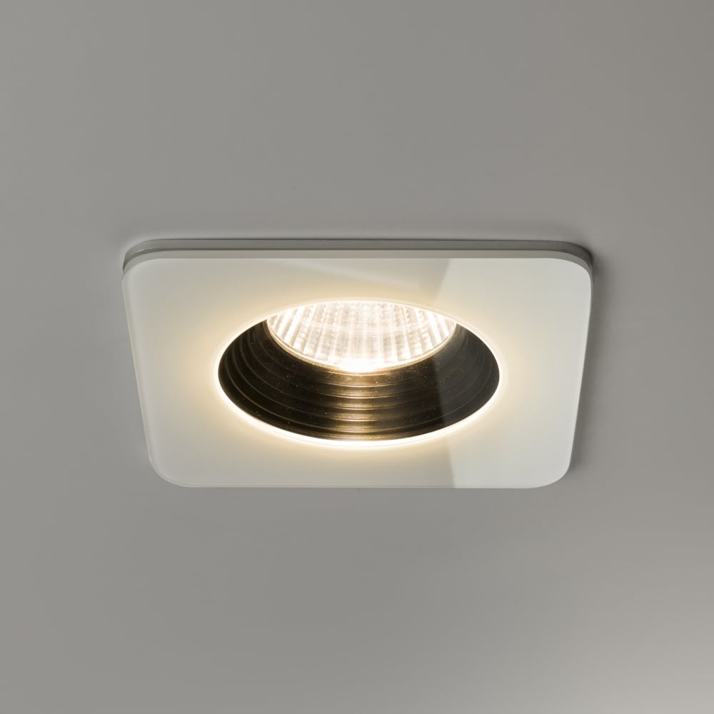 Vetro Led Ip65 Square White Fire Rated Bathroom Downlight in measurements 1000 X 1000