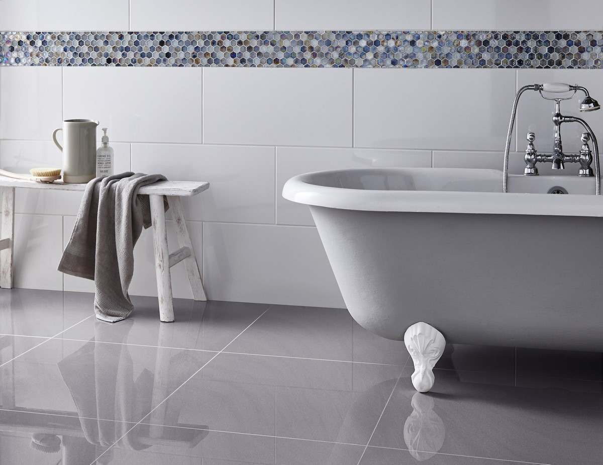 Victoria Rectified Gloss Brilliant White Wall Tile regarding sizing 1200 X 925