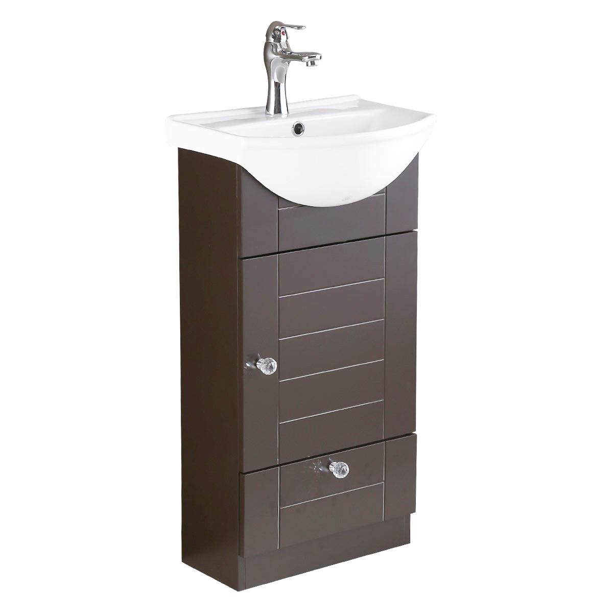 Wall Mounted Bathroom Vanity Cabinet Sink Dark Oak throughout size 1200 X 1200