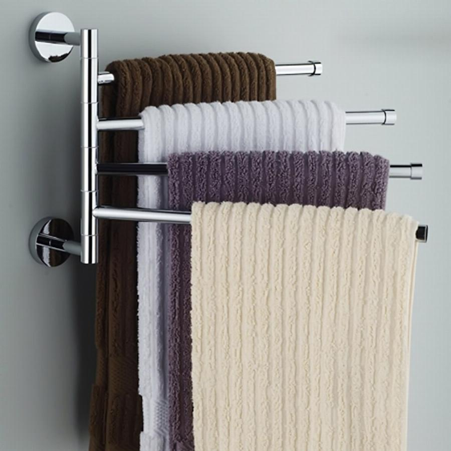 Wall Mounted Towel Rack Steel Bathroom Kitchen Rotating Towel Cloth Polished Rack Holder Hanger Prateleiral Hardware Accessory intended for proportions 900 X 900