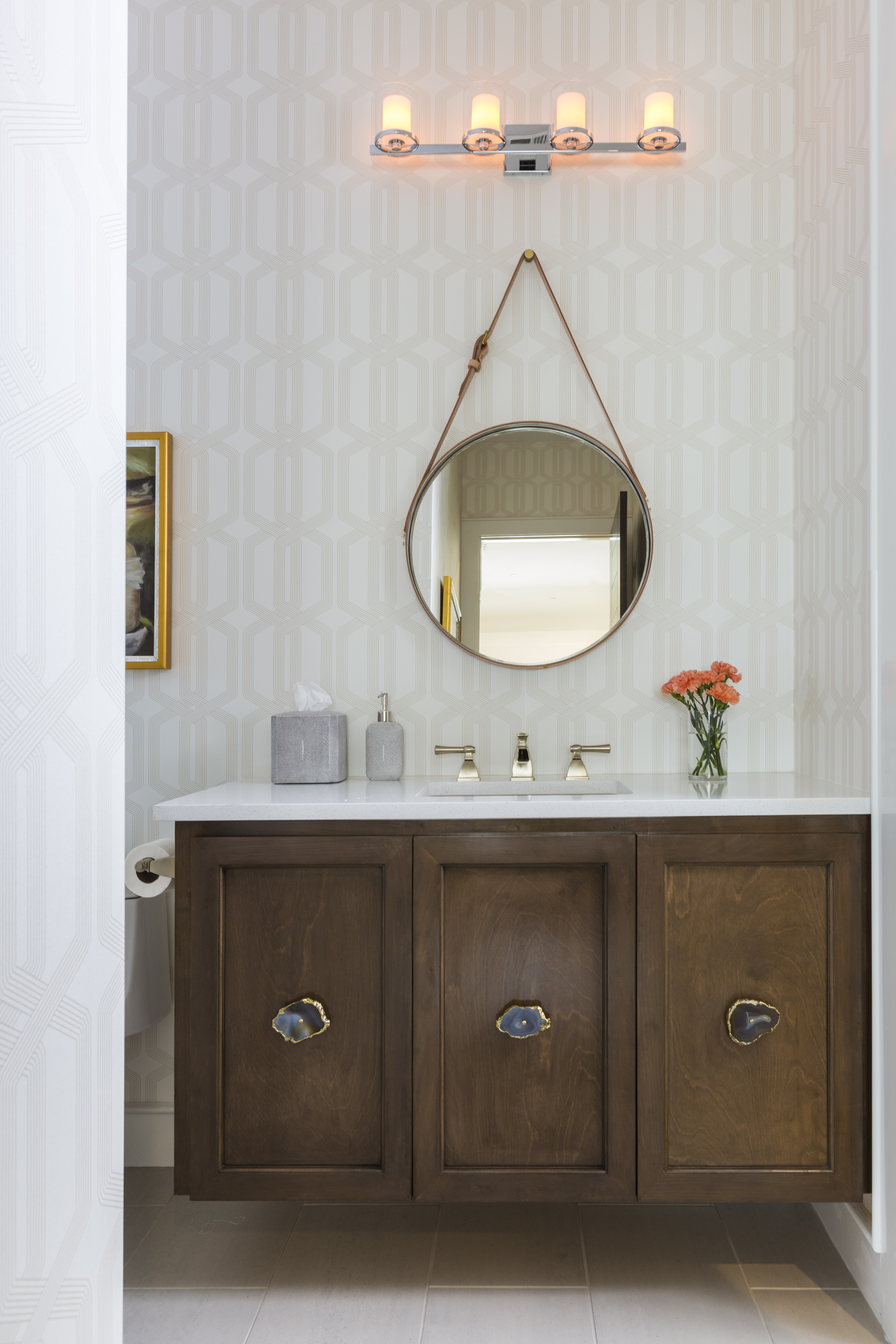 Were Obsessed With Round Mirrors In The Bathroom Laura U within size 3840 X 5760