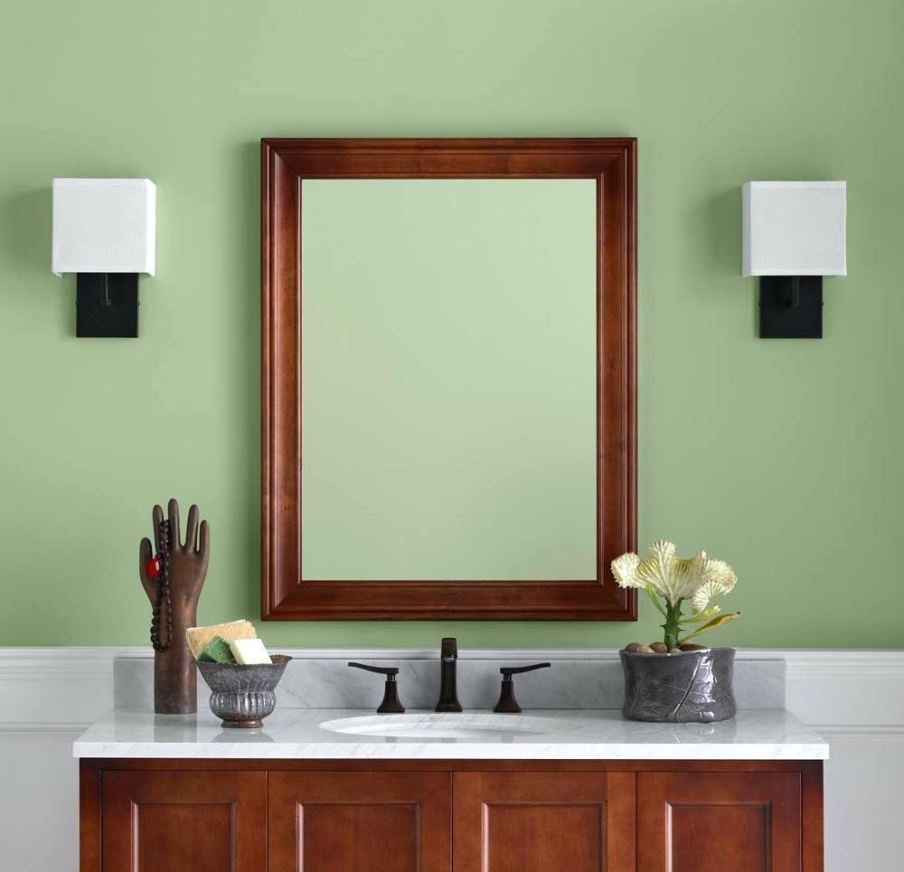 Cherry Wood Framed Bathroom Mirrors • Bathtub Ideas