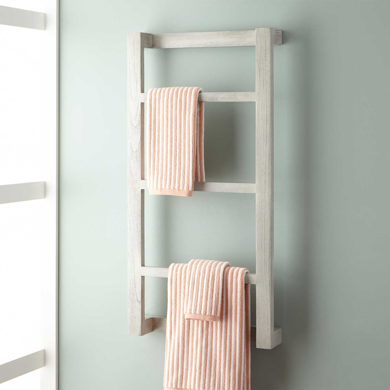 Wulan Teak Hanging Towel Rack intended for dimensions 1500 X 1500