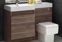 1200mm Walnut Vanity Unit Square Toilet Bathroom Sink Left within size 1500 X 1500