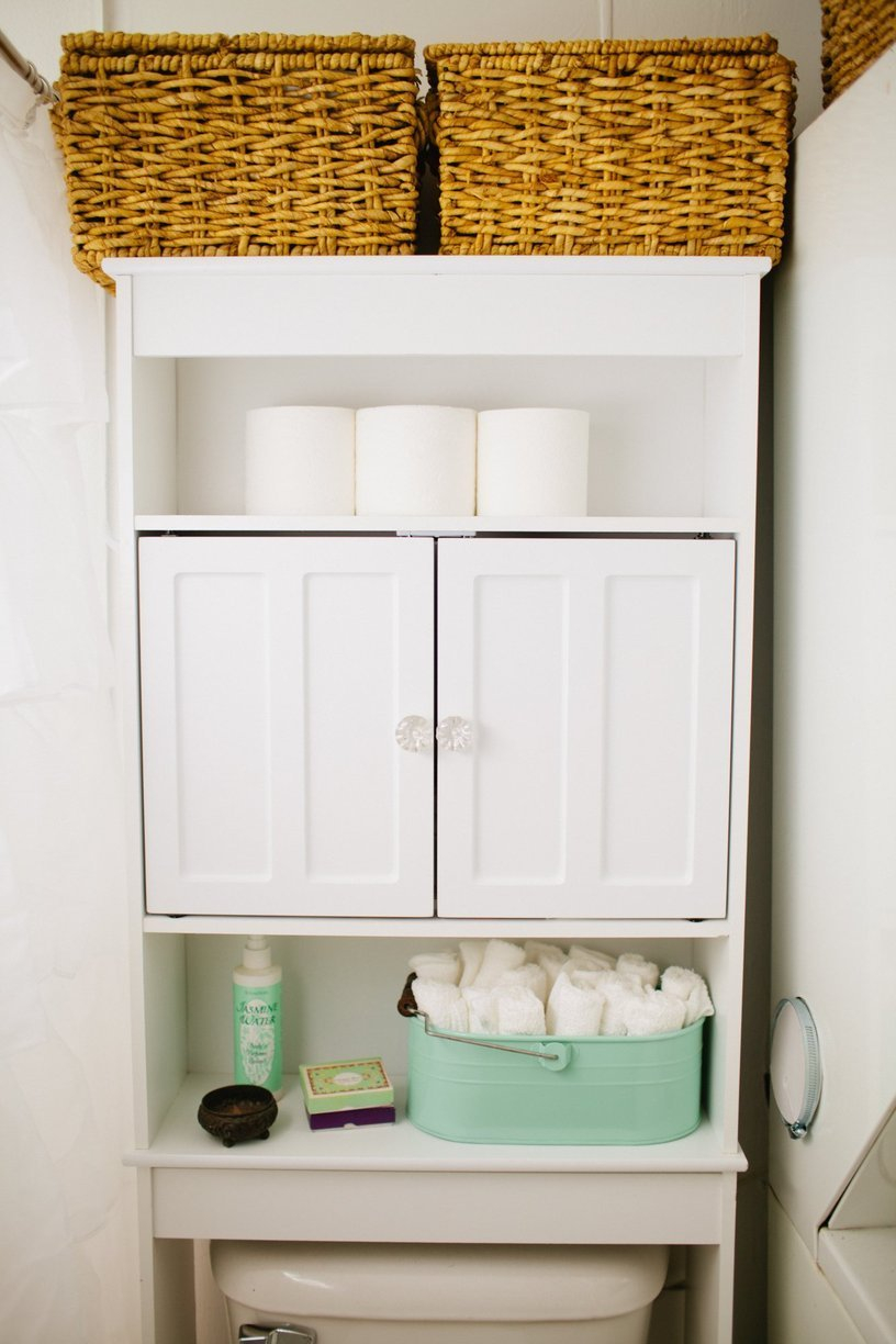 17 Brilliant Over The Toilet Storage Ideas in proportions 816 X 1224
