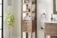 18 Benoist Bathroom Linen Storage Cabinet Gray Wash Pine with regard to measurements 1500 X 1500
