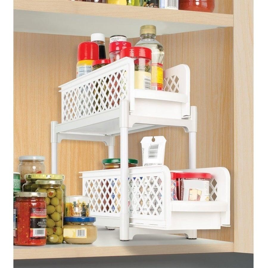 2 Tier Basket Drawers Bathroom Organizer Plastic Storage Organizer with dimensions 900 X 900