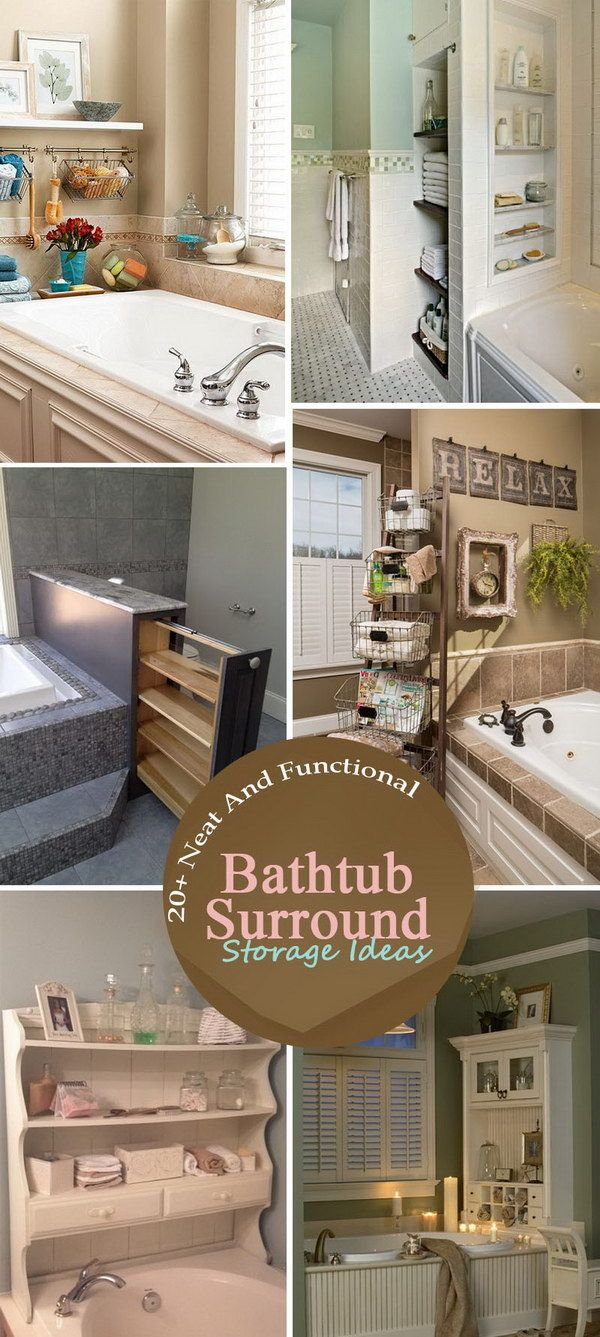 20 Neat And Functional Bathtub Surround Storage Ideas with regard to measurements 600 X 1337