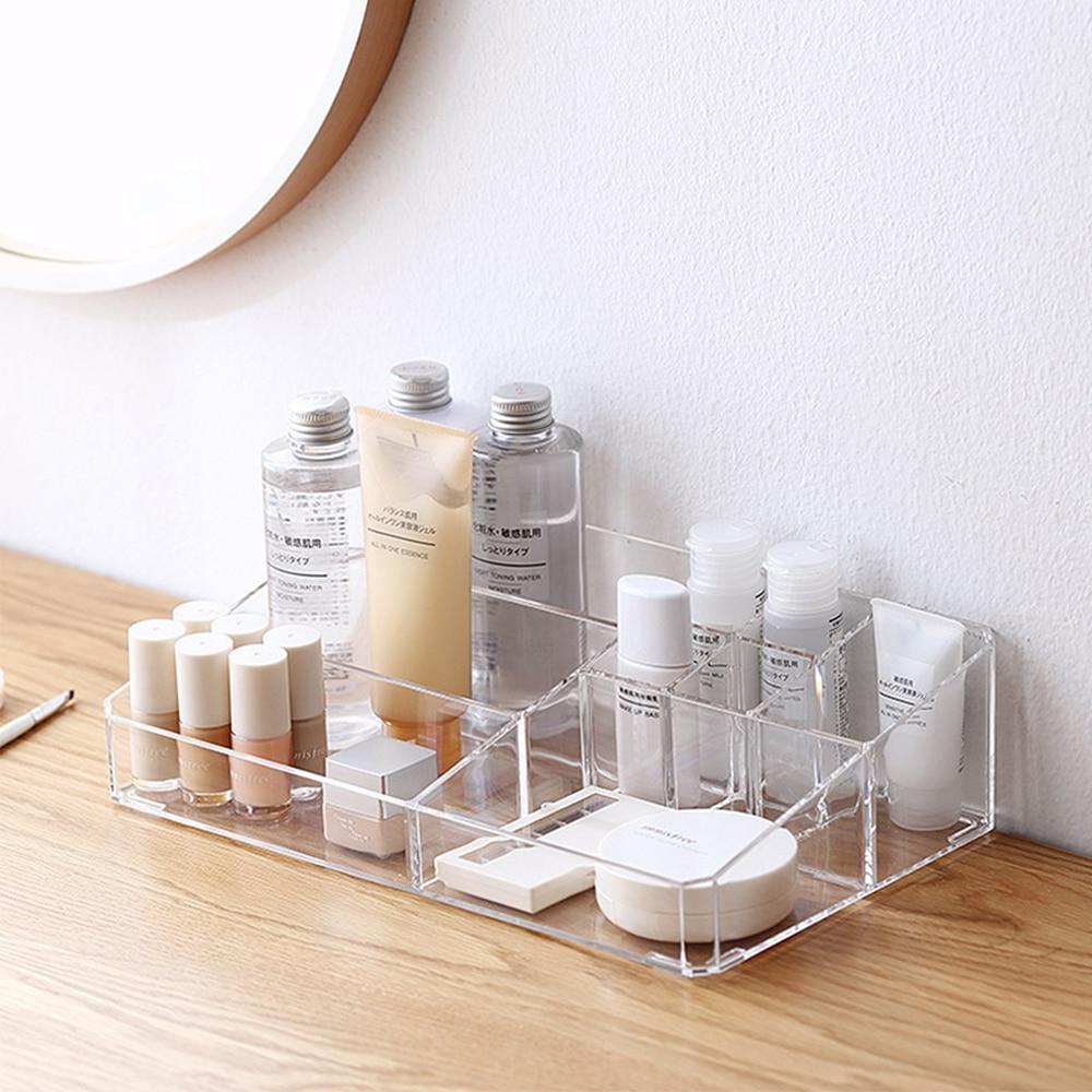 2018 New Acrylic Makeup Storage Box Skincare Storage Box Desktop Collection Box Bathroom Storage inside dimensions 1000 X 1000