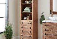 24 Bonner Bathroom Linen Storage Cabinet Pine inside sizing 1500 X 1500