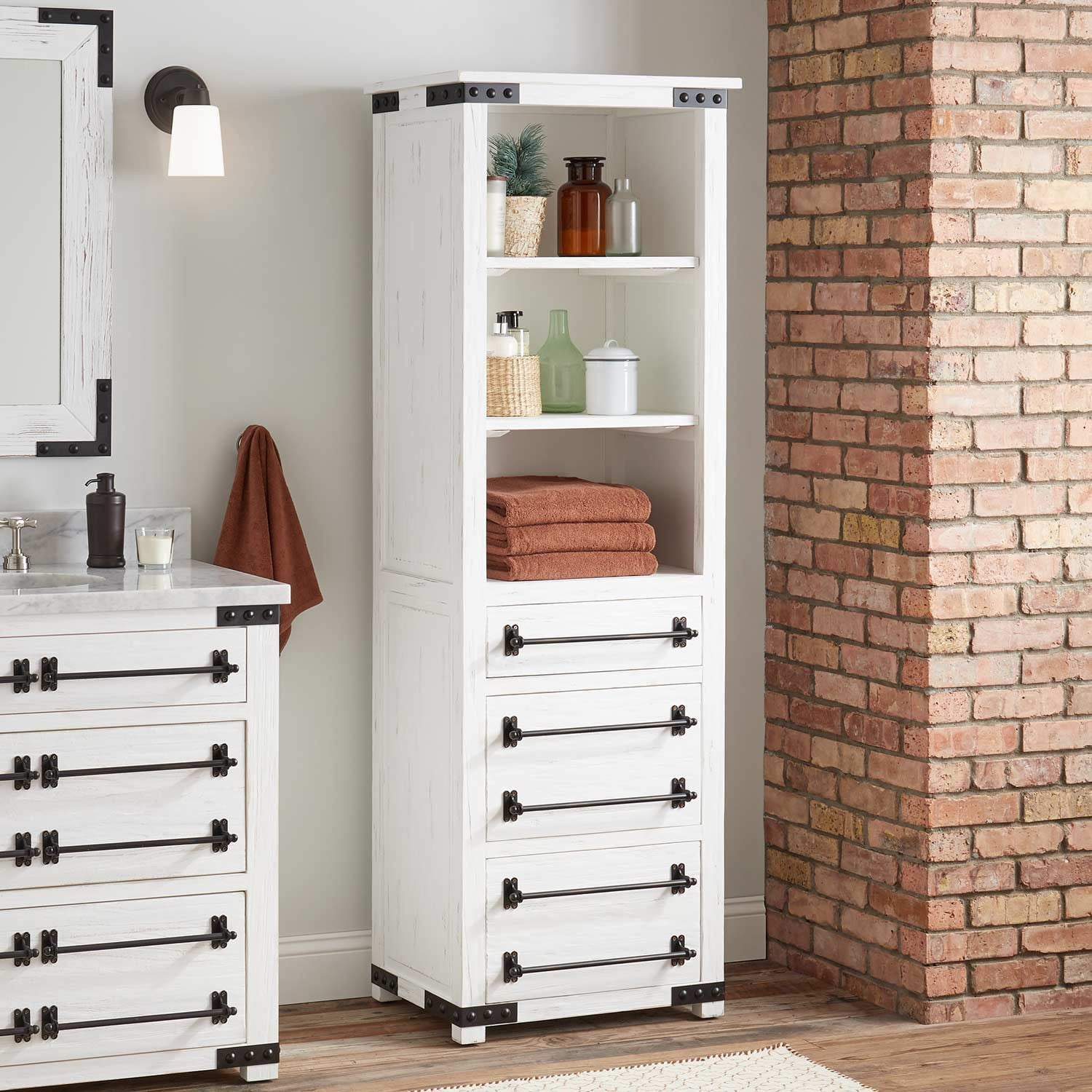 24 Bonner Bathroom Linen Storage Cabinet Pine with size 1500 X 1500