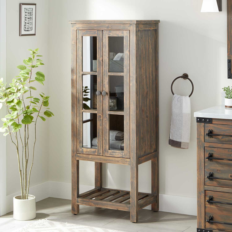 24 Wakefield Linen Storage Cabinet Gray Wash Pine in size 1500 X 1500