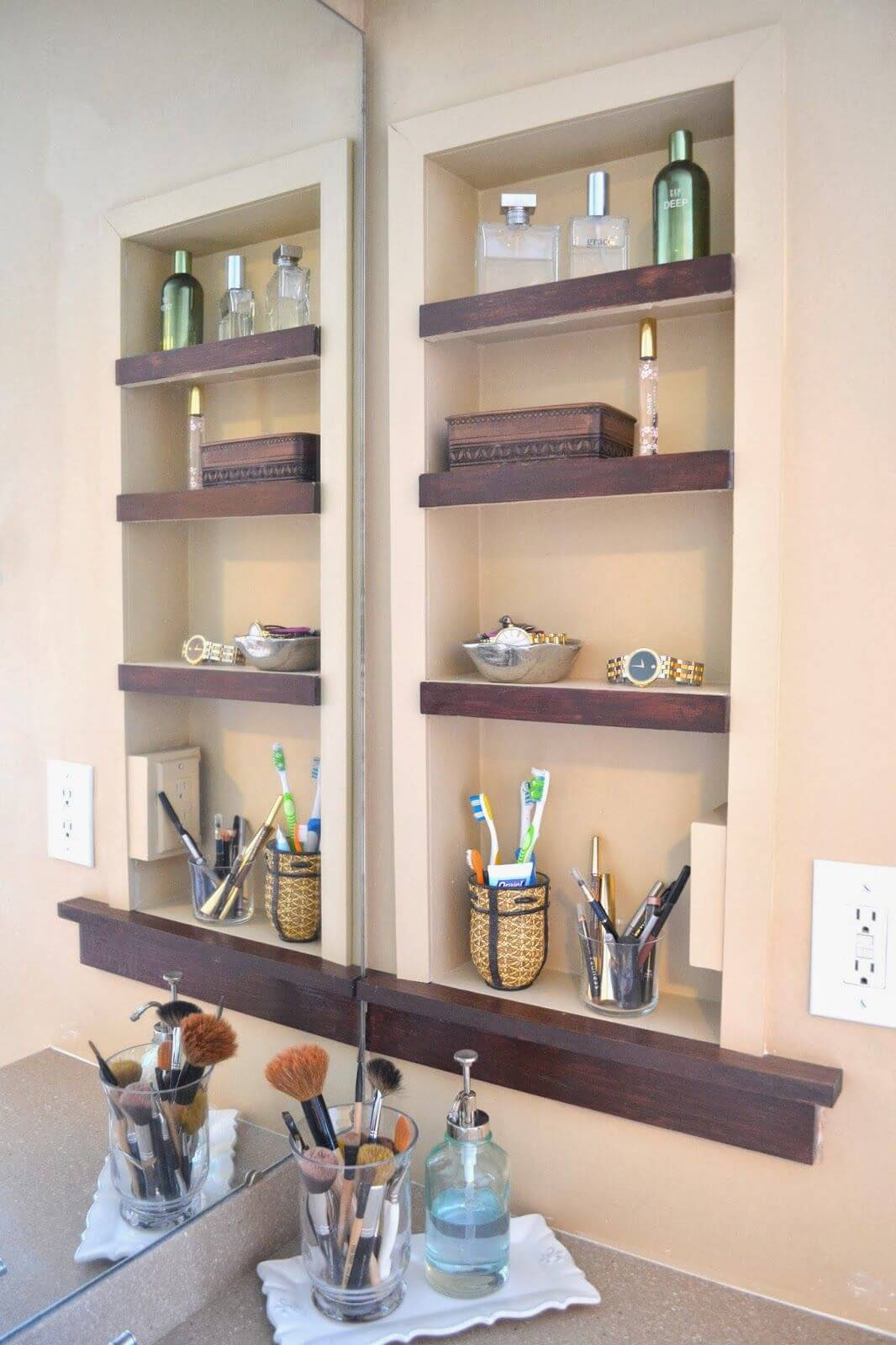 25 Best Built In Bathroom Shelf And Storage Ideas For 2019 regarding dimensions 1066 X 1600