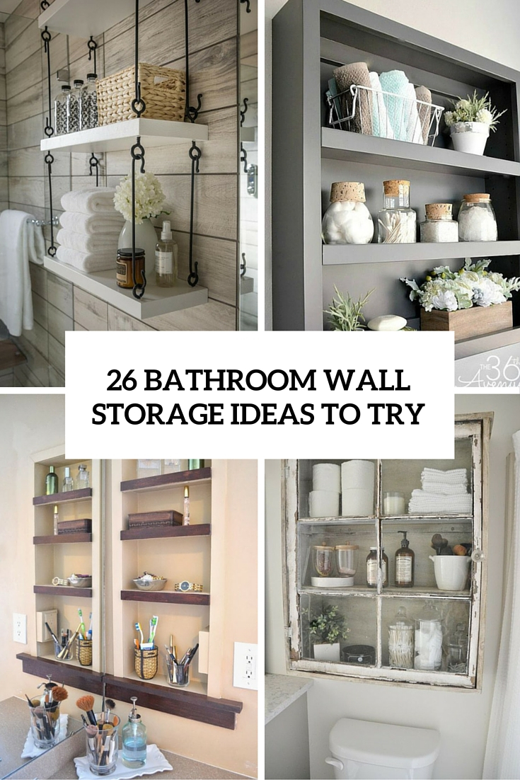 26 Simple Bathroom Wall Storage Ideas Shelterness with proportions 735 X 1102