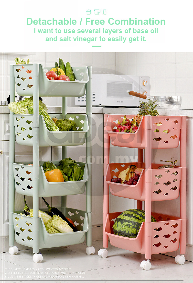 3 Tier Kitchen Storage Rack Plastic Dish Shelf With Wheels 7327 regarding dimensions 790 X 1155