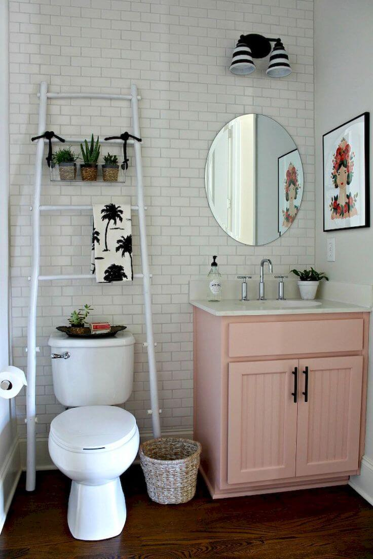 32 Best Over The Toilet Storage Ideas And Designs For 2019 for size 736 X 1104